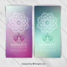 More than a million free vectors, PSD, photos and free icons. Exclusive freebies and all graphic resources that you need for your projects Banner Template, Best Visiting Card Designs, Logos Online, Yoga Flyer, Little Buddha, Yoga Logo, Adobe Illustrator, Magazine Layout Design, Vector Free