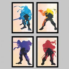 teenage mutant ninja turtles poster set