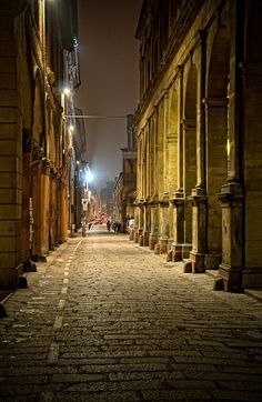 Via Zamboni, Bologna by sdhaddow, via Flickr
