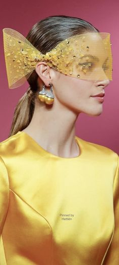 Marie Mimran- Georges Hobeika FW 2019 Paris - Beauty Look Love And Light, Peace And Love, Georges Hobeika, Mellow Yellow, Feeling Happy, Gold Fashion, Beauty Skin, Favorite Color, Sunglasses Women