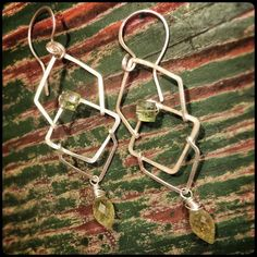 Beautiful sterling silver earrings with green by GypsyLotusCo
