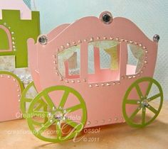 Carriage favour box template