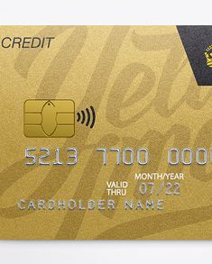 Metal Credit Card Mockup - Front View