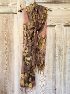 eco printed scarf by Rebecca Yeomans