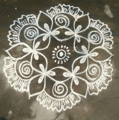 Rangoli Kolam Designs on Happy Shappy in Here you can find the most beautiful & Simple design, photos, images, free hand and more in Small & Large design Ideas Simple Rangoli Designs Images, Rangoli Designs Latest, Rangoli Border Designs, Rangoli Patterns, Rangoli Ideas, Rangoli Designs Diwali, Rangoli Designs With Dots, Kolam Rangoli, Beautiful Rangoli Designs