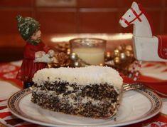 Citromkrémes diós-mákos torta Cheesesteak, Nutella, Pudding, Cake, Ethnic Recipes, Poppy, Dios, Kuchen, Custard Pudding