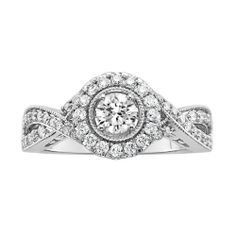 Awesome Fred Meyer Jewelers ct tw Diamond Engagement Ring