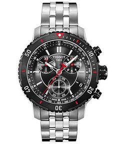 Tissot Watch, Men's Swiss Chronograph PRS 200 Stainless Steel Bracelet T0674172105100 - Men's Watches - Jewelry & Watches (Macy's)
