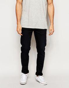 Jeans von Blend Stretch-Denim niedrige Bundhöhe verdeckter Hosenschlitz enge Passform Maschinenwäsche 98% Baumwolle, 2% Elastan unser Model trägt Größe 81 cm/32 Zoll und ist 185,5 cm/6 Fuß 1 Zoll groß