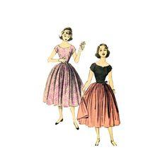 Vintage 50s Sewing Pattern Sweetheart Neckline Cap by retromonkeys, $16.00