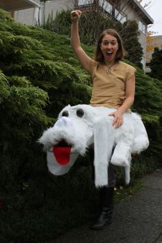 I want to do this next Halloween! How To Make Your Own Rideable Falcor from Never Ending Story, LOL
