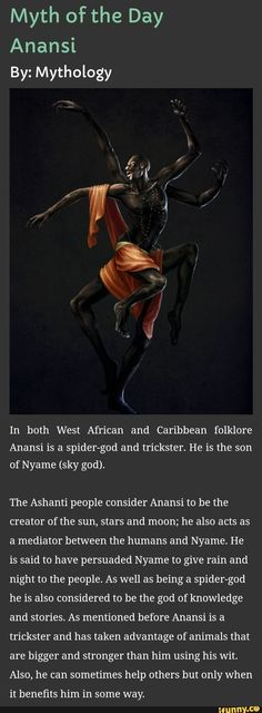 #mythology, #original, #anansi We read some myths about him in mythology class! Glad to see him getting so,e recognition