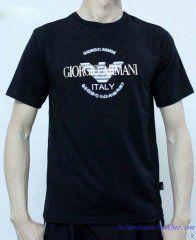 T-shirt à Manches Courtes Giorgio Armani Homme Pas Cher Bleu Foncé