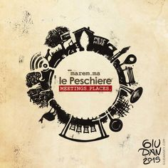 Planet le Peschiere in Maremma, illustration logo concept