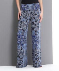 Loving this Blue Paisley High-Waist Palazzo Pants on Zully $34.99 Loving the colours