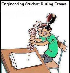 Engineering Student During Exam