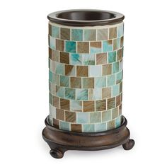 Bring the ocean to you with the Sea Glass Candle Warmer. Just add your favorite tropical scent!