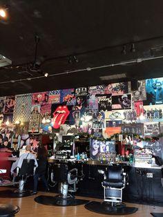 A barber shop interior