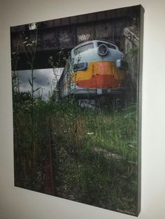"""""""Abandoned Beauty"""" Abandoned Train at Winslow Railroad Junction in NJ Photography on Canvas. Etsy"""