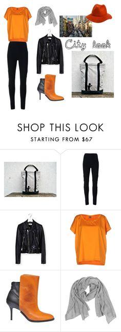 City Look by lemiecreazionidarte on Polyvore featuring moda, Jijil, Yves Saint Laurent, Givenchy, Maison Margiela, Samantha Holmes, RHYTHM, women's clothing, women's fashion and women