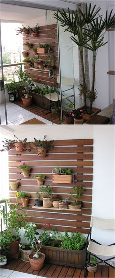 77 cool ideas for space-saving furniture, with which you coquettishly design the small balcony - Balkon Ideen Outdoor Walls, Outdoor Spaces, Outdoor Living, Outdoor Balcony, Garden Design, House Design, Wall Design, Walled Garden, Apartment Balconies