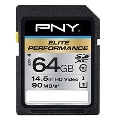 PNY Elite Performance 64GB High Speed SDXC Class 10 UHS-I, U1 Up to 90MB/sec Flash Card - P-SDX64U1H-GE PNY http://www.amazon.com/dp/B00HIKBW1G/ref=cm_sw_r_pi_dp_NzMvvb0K6MGTG