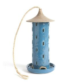 Take a look at this Blue Tall Bird Feeder by Napa Home & Garden on #zulily today! $35 !!