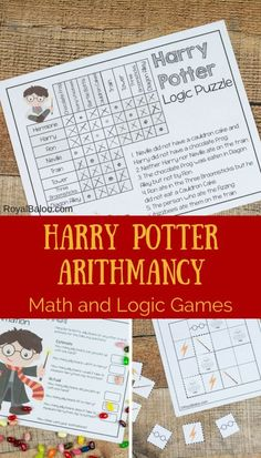 Harry Potter Arithmancy - Math and Logic Fun Harry Potter math for summer fun or regular funschooling - it doesn't matter. Play games and learn while loving Harry Potter! Harry Potter Classes, Magia Harry Potter, Harry Potter Activities, Classe Harry Potter, Cumpleaños Harry Potter, Harry Potter Classroom, Harry Potter Birthday, Fun Math, Math Activities