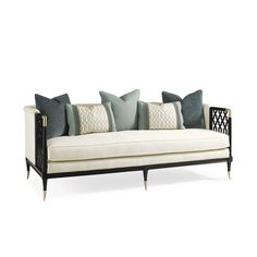 Product Info Dimensions Construction KAGNEY LATTICE DESIGN SOFA Stunning from every angle, the Kagney Lattice Design Sofa makes a statement with fresh white uph