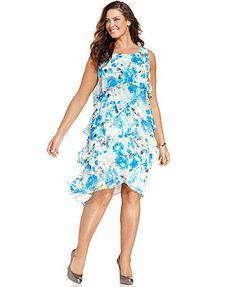 sl fashions womens fern printed tiered dress pinkmulti 16 *** find