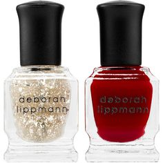 Deborah Lippmann Ice Queen Nail Polish Set (23 AUD) ❤ liked on Polyvore featuring beauty products, nail care, nail polish, beauty, nails, deborah lippmann, deborah lippmann nail color, deborah lippmann nail polish and deborah lippmann nail lacquer