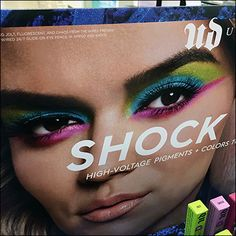 Consider the colorful cosmetics offerings of this Sephora Wired Shock-Value Island Display and in particular, consider the contrast in spokesmodel photos. Retail Fixtures, Store Fixtures, Cosmetic Display, Pigment Coloring, Lipstick Holder, High Voltage, Clear Acrylic, Close Up, Sephora