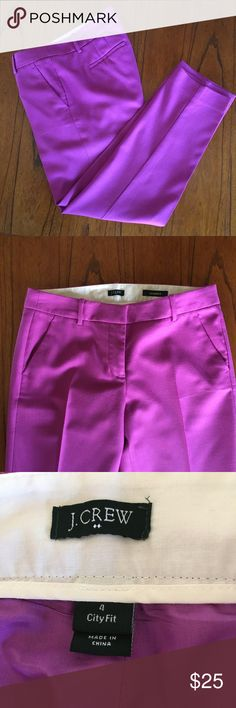 J. Crew Factory Wool Blend Skimmer Pant Beautiful brightly colored pants from J. Crew Factory. These are freshly dry cleaned and in great used condition. Size 4. J. Crew Factory Pants Ankle & Cropped