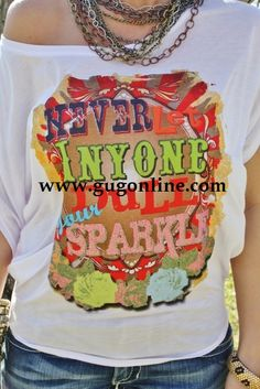 GIDDY UP GLAMOUR  www.gugonline.com  $52.95  Gypsy Soule Never Let Anyone Dull Your Sparkle