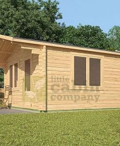"Ref: 611 ""Ashford"" Log Cabin x Cabin size internal - x Bedroom size - x Bathroom size - x Pantry size - x Kitchen size - x Window S Outdoor Rooms, Outdoor Living, Outdoor Kitchens, Patio Design, House Design, Cedar Cabin, Camping Pod, Cottage Porch, Tiny House Cabin"