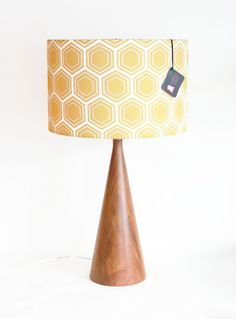 Modern Lamp Shade - Pendant Light - Swag Lamp - Choose Your Size - Gold / Yellow Geometric Honeycomb - As Seen on Apartment Therapy on Etsy, 590:97kr