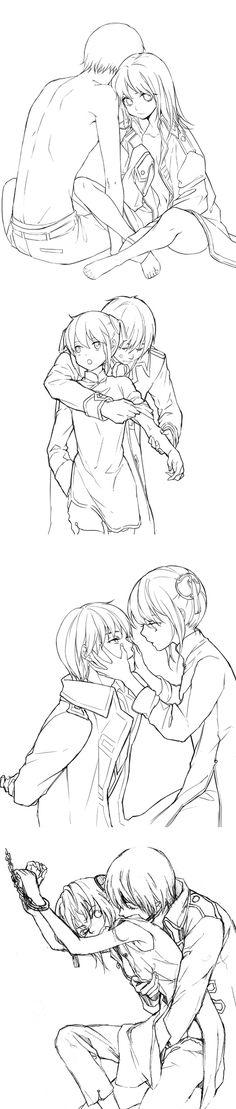 Okita Sougo x Kagura Gilgamesh Anime, Hetalia The Beautiful World, Manga Romance, Male Yandere, Okikagu Doujinshi, Gintama, Romantic Manga, Manga Couple, Bleach Anime