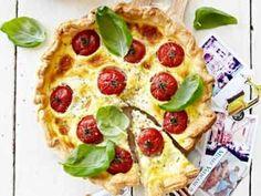 Quiche met tomaat, mozzarella en basilicum - Libelle Lekker!