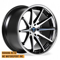 "20"" Rohana Rc10 Machine Black Concave Wheels 5x120 5x114 5x112 Available at M2 Motorsport Inc."
