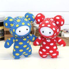 Sock DIY kit baby toy bear 8inch 20cm tall....b106