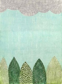 I don't think I've ever seen as many different greens as in Tamae Mizukami's beautiful blockprints. More on the blog! http://www.artisticmoods.com/tamae-mizukami/
