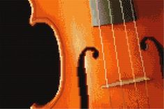 Violin pattern found for free online at http://www.cross-stitch-patterns.eu/big.php?id=95