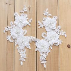 1 pair White Lace Appliques Embroidered Flowers Patches F.- 1 pair White Lace Appliques Embroidered Flowers Patches For Wedding Supplies Bridal Hair Flower Headpiece - Wedding Dress Accessories, Modest Wedding Dresses, Boho Wedding Dress, Bridal Dresses, Wedding Gowns, Wedding Lace, Crystal Wedding, Rustic Wedding, Wedding Shoes