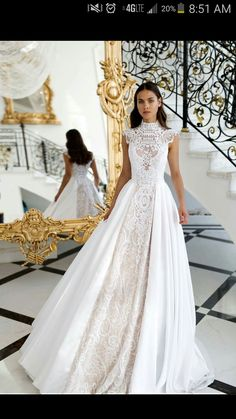 The detail on this wedding dress is stunning!