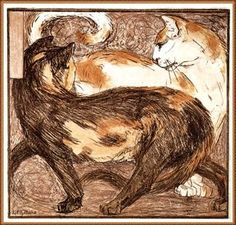 Two cats - Franz Marc, 1909