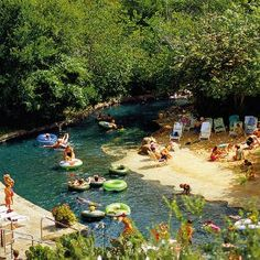 The Hyatt Regency Hill Country Resort and Spa in San Antonio might as well claim its own zip code. With an 18-hole championship golf course, a 950-foot Ramblin' River for tubing, multiple swimming pools (one in the shape of Texas), trails for hiking, a manmade beach, a relaxing spa,