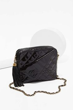 Vintage Chanel Quilted Patent Leather Bag