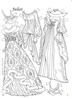 Romeo and Juliet Coloring Paper Dolls by Charles Ventura - Nena bonecas de papel - Picasa Webalbum