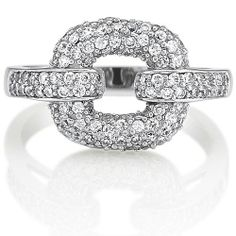 Sterling Silver 925 Cubic Zirconia CZ Square Ring from Berricle - Price: $60.99