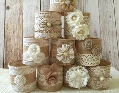 10 quart size mason jar sleeves natural color burlap by PinKyJubb